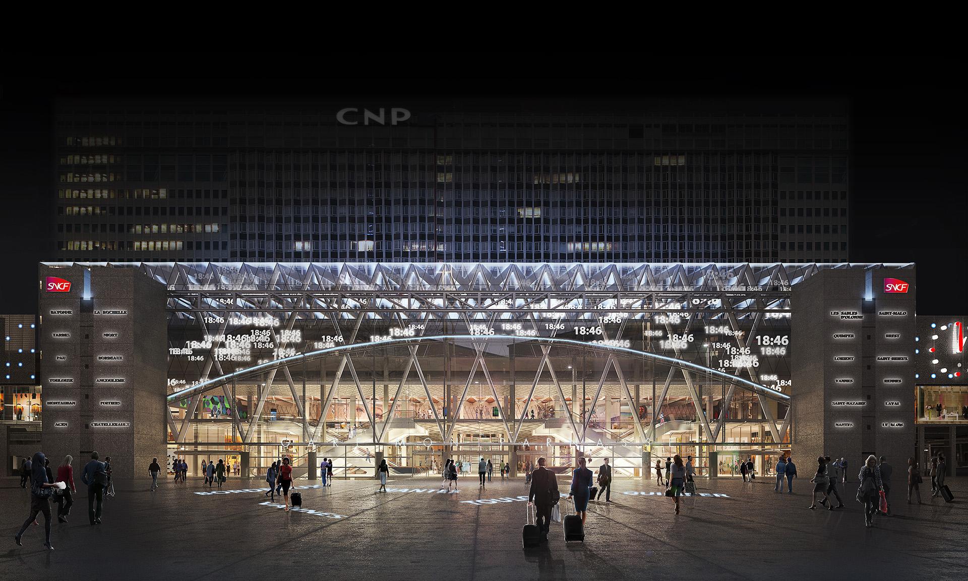 Kaupunki restructuration de la gare montparnasse paris - Bureau de change paris gare de l est ...